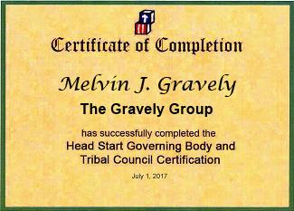 head start governing body certificate